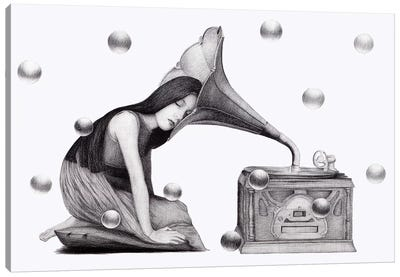 Music's Heartbeat Canvas Art Print