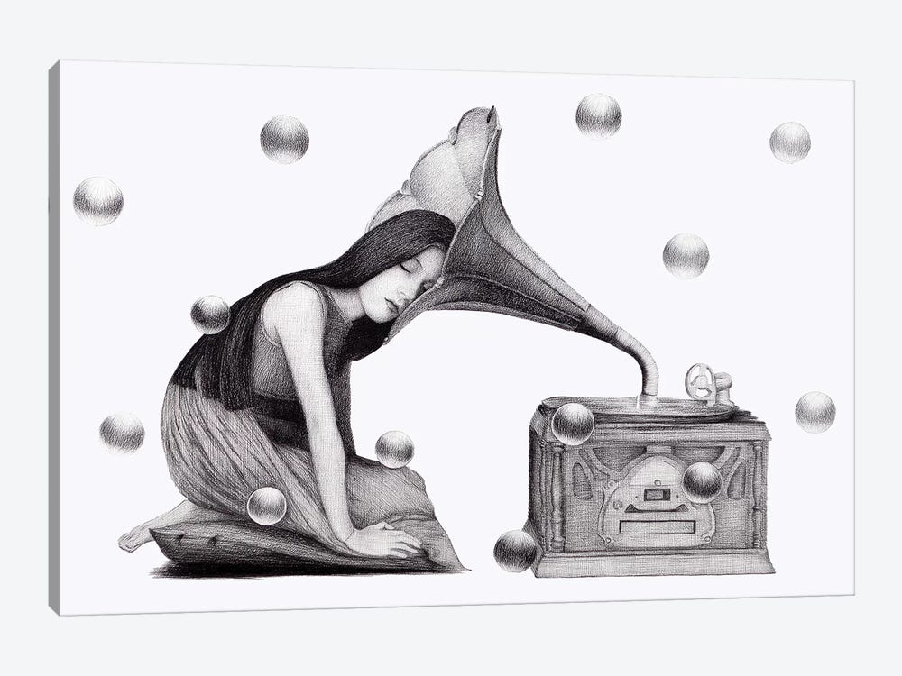 Music's Heartbeat by Anastasia Alexandrin 1-piece Canvas Art Print