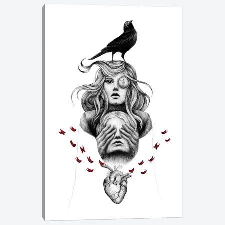 Raven Heart Canvas Print #XAN34} by Anastasia Alexandrin Art Print
