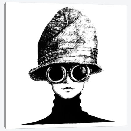 The Hat Canvas Print #XAN41} by Anastasia Alexandrin Art Print