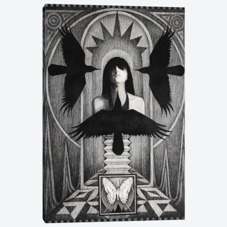 Three Crows Canvas Print #XAN44} by Anastasia Alexandrin Canvas Artwork