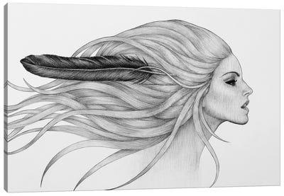 Black Feather Canvas Art Print