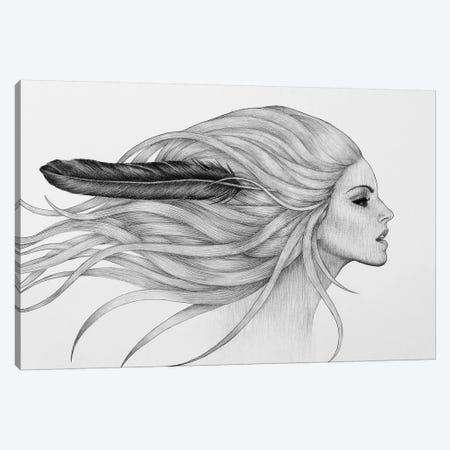 Black Feather Canvas Print #XAN45} by Anastasia Alexandrin Canvas Artwork