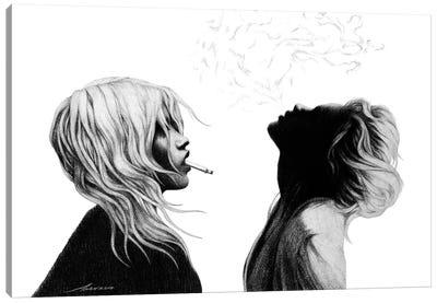 Silent Smoke Canvas Art Print