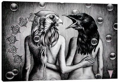 Birds & The Bees Canvas Art Print