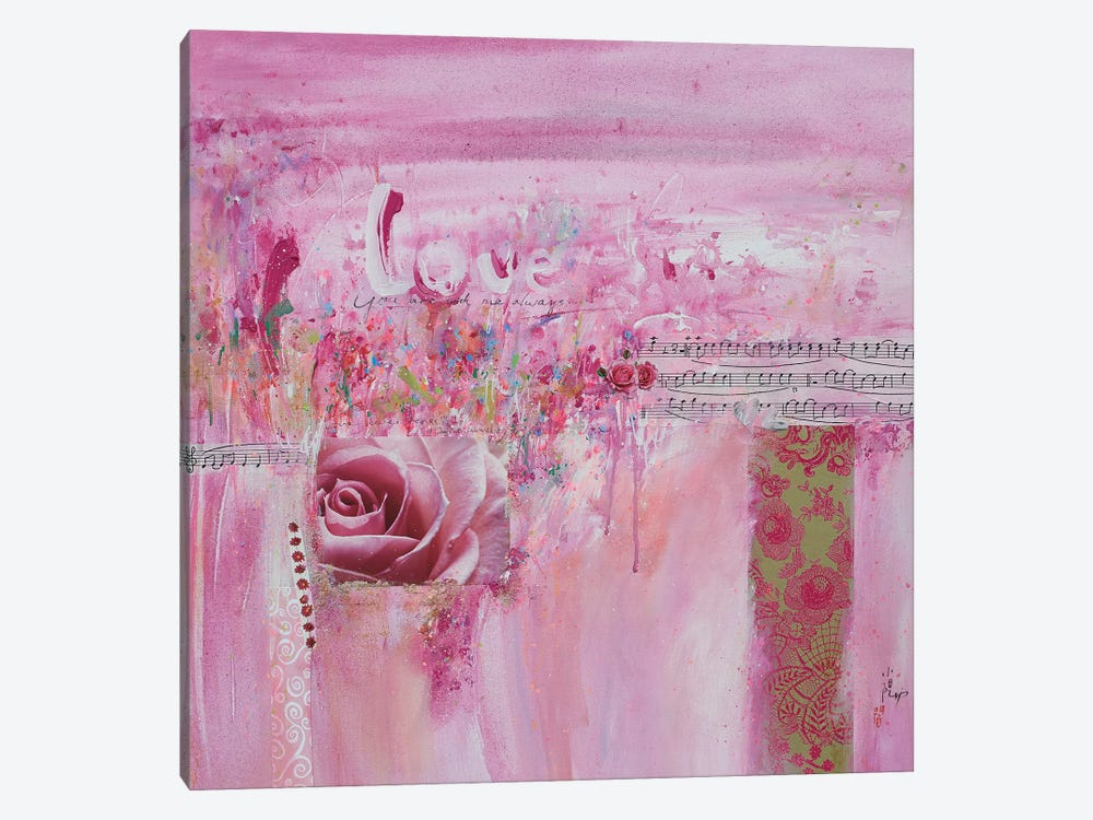 Love by Xiaoyang Galas 1-piece Canvas Wall Art