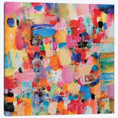 Add Confetti I Canvas Print #XIG4} by Xiaoyang Galas Canvas Wall Art