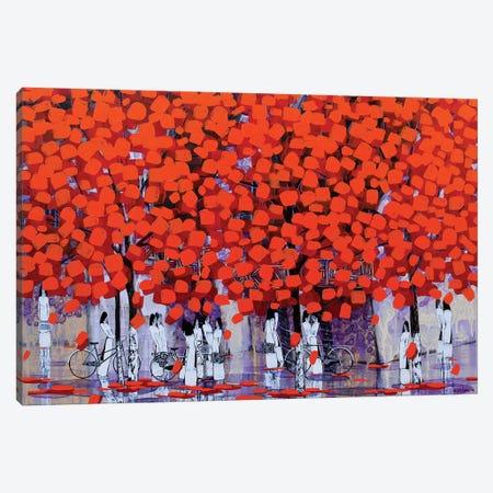 Season Of Orange Leaves I Canvas Print #XKN17} by Xuan Khanh Nguyen Canvas Print