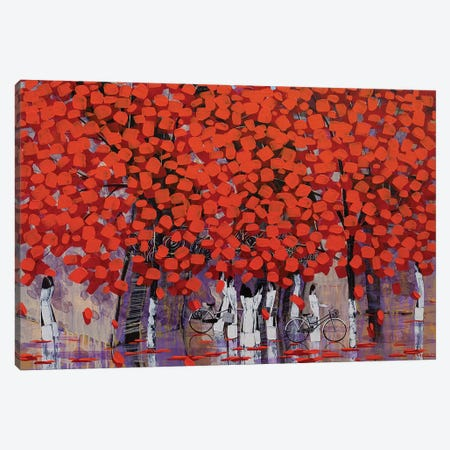 Season Of Orange Leaves II Canvas Print #XKN18} by Xuan Khanh Nguyen Canvas Artwork