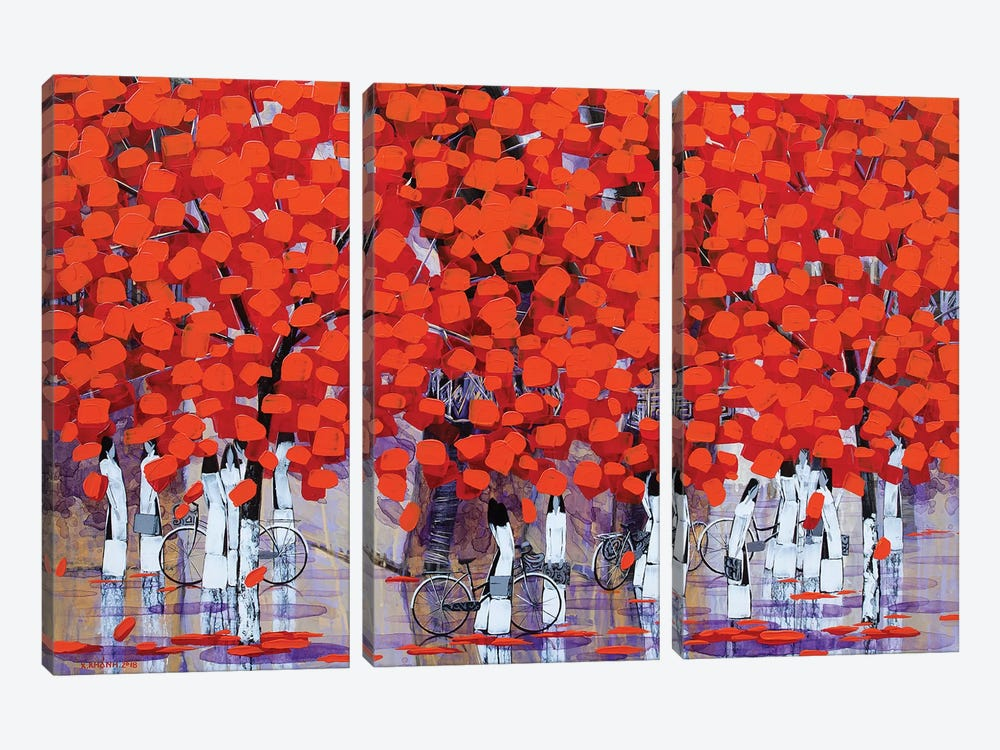After School V by Xuan Khanh Nguyen 3-piece Canvas Wall Art