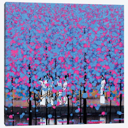 Blue And Pink I Canvas Print #XKN38} by Xuan Khanh Nguyen Canvas Wall Art