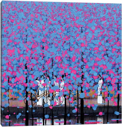 Blue And Pink I Canvas Art Print