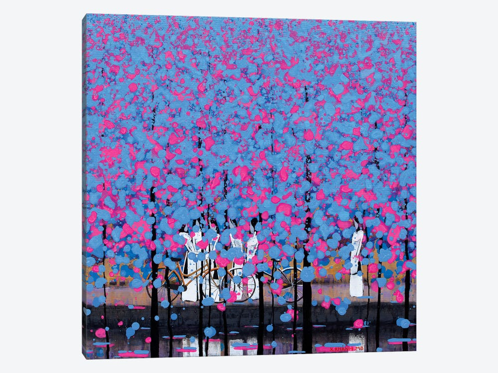 Blue And Pink I by Xuan Khanh Nguyen 1-piece Canvas Art