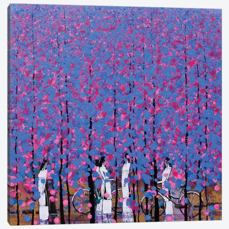 Blue And Pink II Canvas Print #XKN39} by Xuan Khanh Nguyen Canvas Art