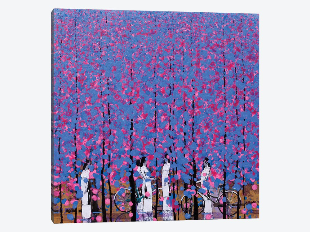 Blue And Pink II by Xuan Khanh Nguyen 1-piece Canvas Print