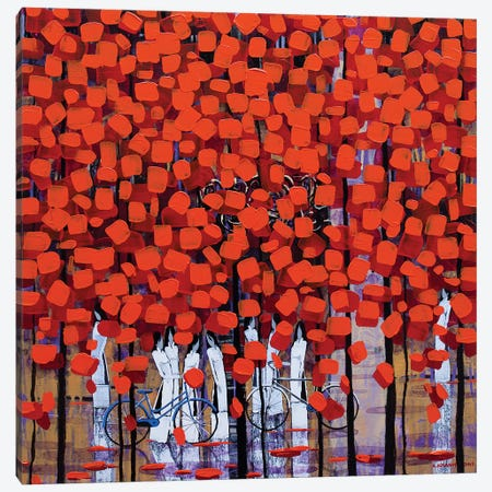 Rows Of Orange Trees II Canvas Print #XKN43} by Xuan Khanh Nguyen Art Print