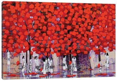 Season Of Orange Leaves I Canvas Art Print