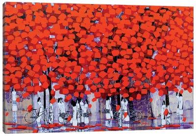 Season Of Orange Leaves I-II Canvas Art Print