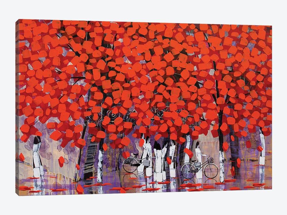 Season Of Orange Leaves II by Xuan Khanh Nguyen 1-piece Canvas Art Print