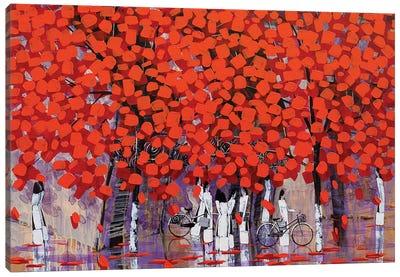 Season Of Orange Leaves II Canvas Art Print