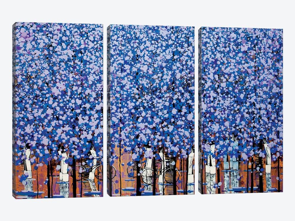 Winter Morning III by Xuan Khanh Nguyen 3-piece Canvas Art Print
