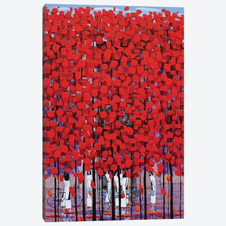 Rows Of Red Trees III Canvas Print #XKN64} by Xuan Khanh Nguyen Canvas Artwork