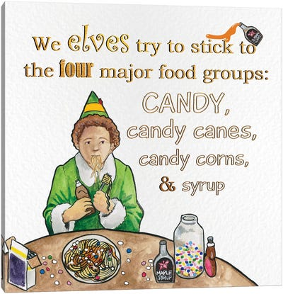Candy Groups Canvas Art Print