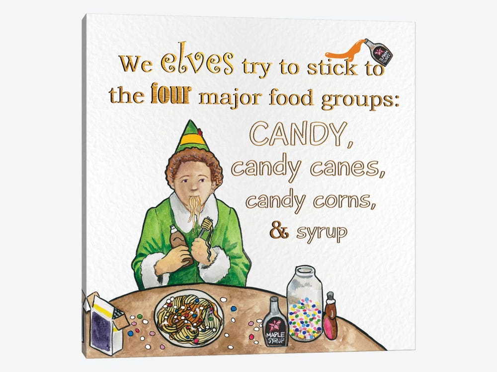 Candy Groups by 5by5collective 1-piece Canvas Print