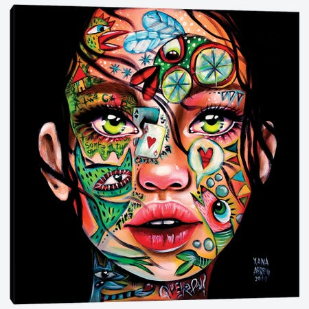Ace Up My Sleeve Canvas Print #XNA1} by Xana Abreu Canvas Wall Art