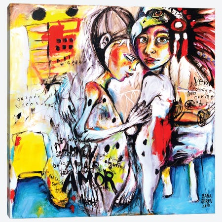 Amo Amar Amor Canvas Print #XNA3} by Xana Abreu Canvas Art