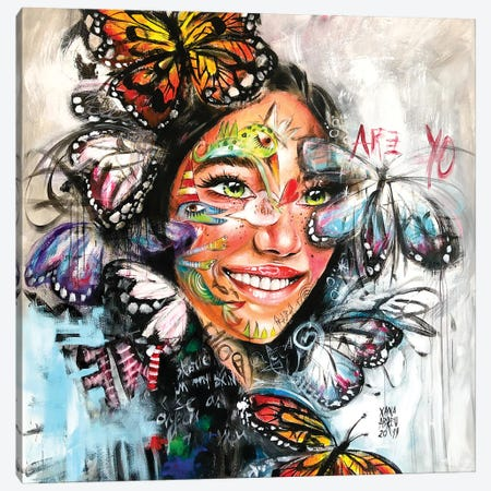 Butterflies Canvas Print #XNA6} by Xana Abreu Art Print