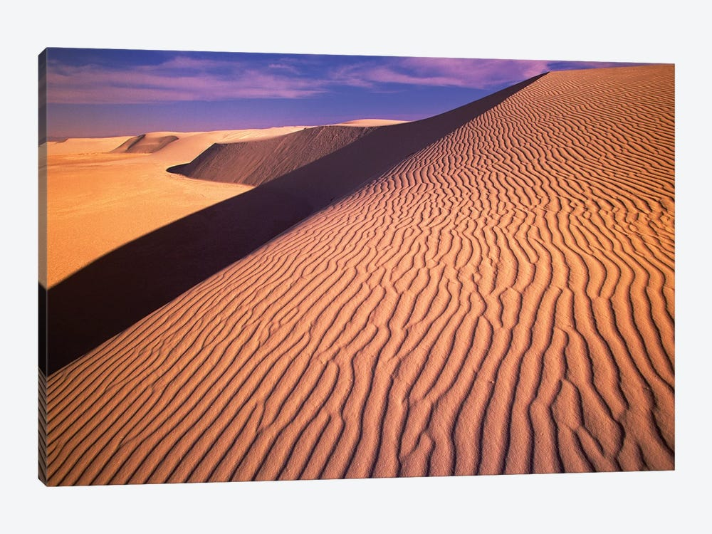 Gypsum Sand Dunes In The Evening Light, White Sands National Monument, New Mexico by Yva Momatiuk & John Eastcott 1-piece Canvas Wall Art