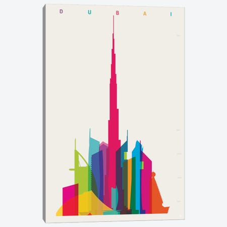Dubai Canvas Print #YAL100} by Yoni Alter Canvas Art Print