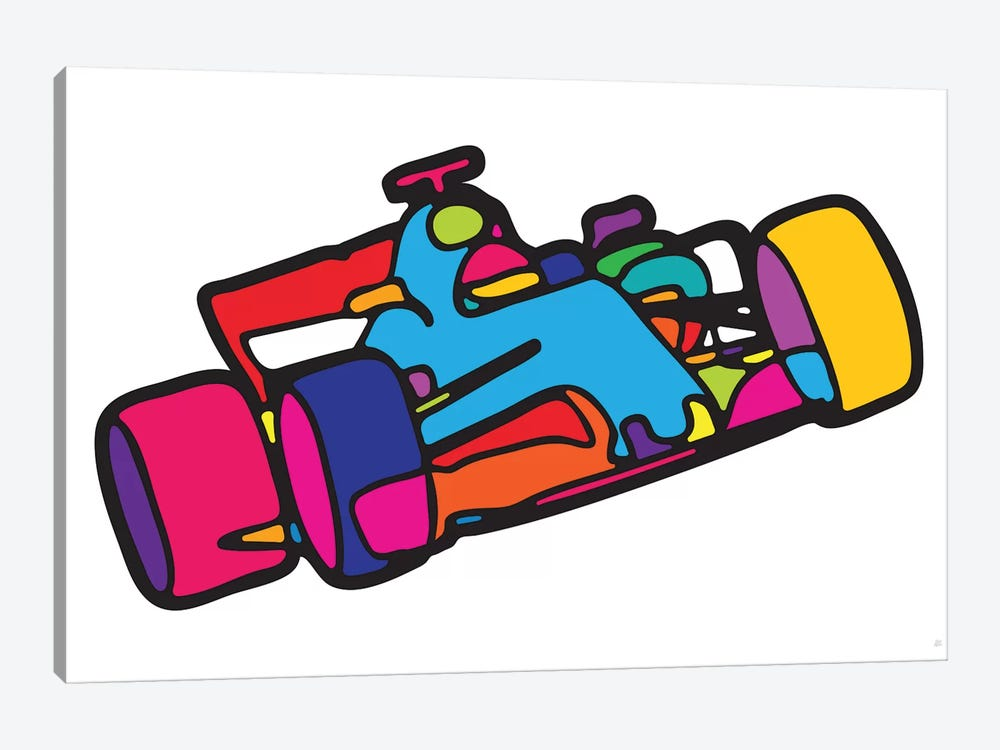 F1 by Yoni Alter 1-piece Canvas Art