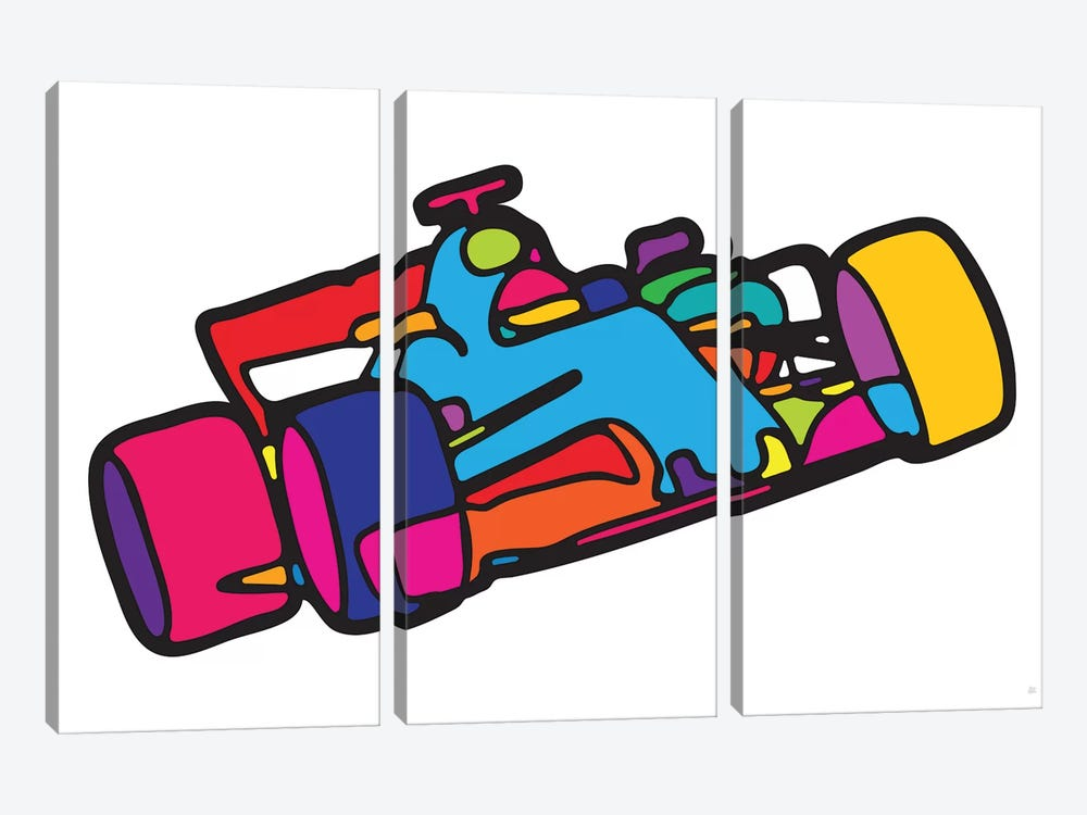 F1 by Yoni Alter 3-piece Canvas Wall Art
