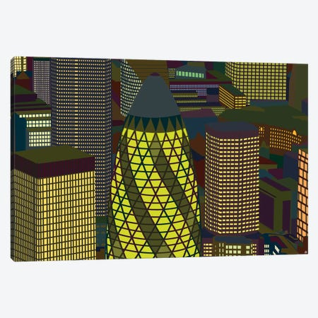 Gherkin Canvas Print #YAL103} by Yoni Alter Art Print