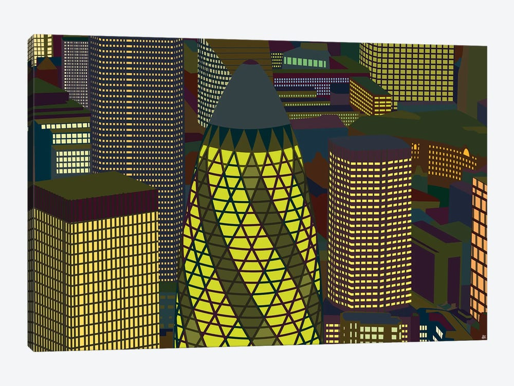 Gherkin by Yoni Alter 1-piece Canvas Wall Art