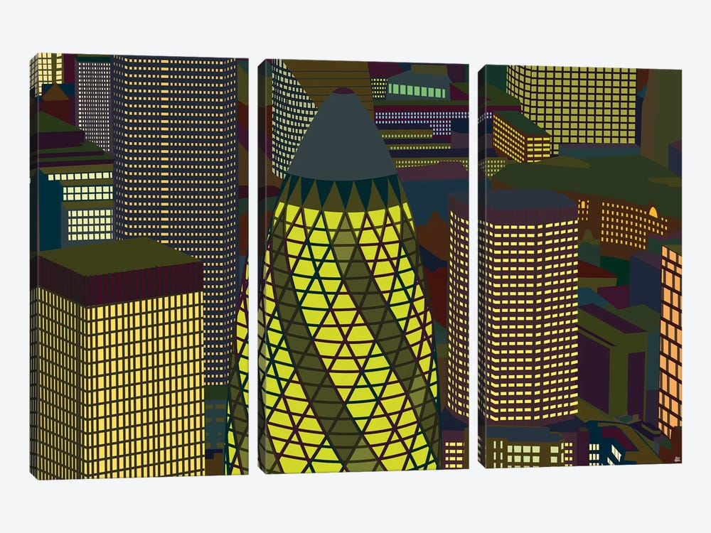 Gherkin 3-piece Canvas Art