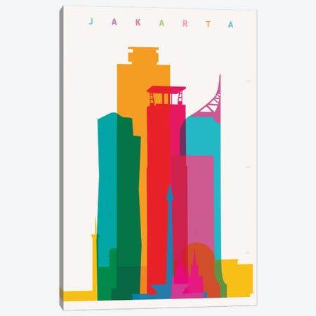 Jakarta Canvas Print #YAL104} by Yoni Alter Canvas Wall Art