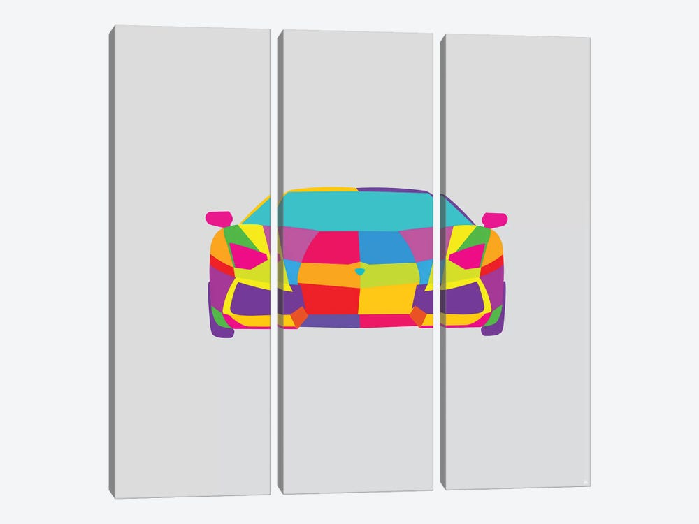Lambo by Yoni Alter 3-piece Canvas Art