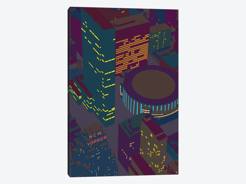 Madison Square Garden At Night by Yoni Alter 1-piece Canvas Print
