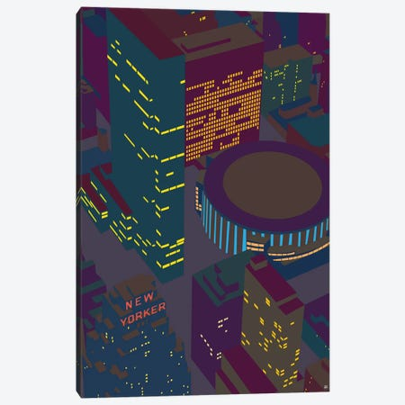 Madison Square Garden At Night Canvas Print #YAL108} by Yoni Alter Canvas Print