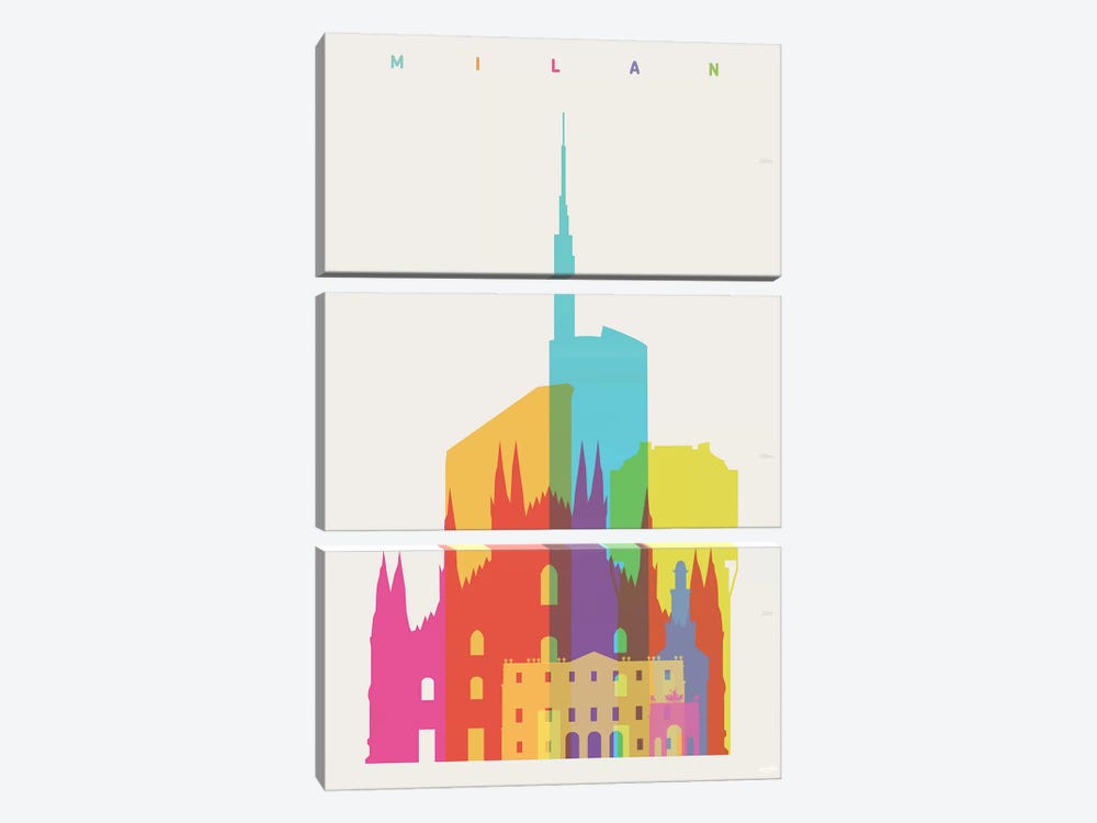 Milan by Yoni Alter 3-piece Art Print