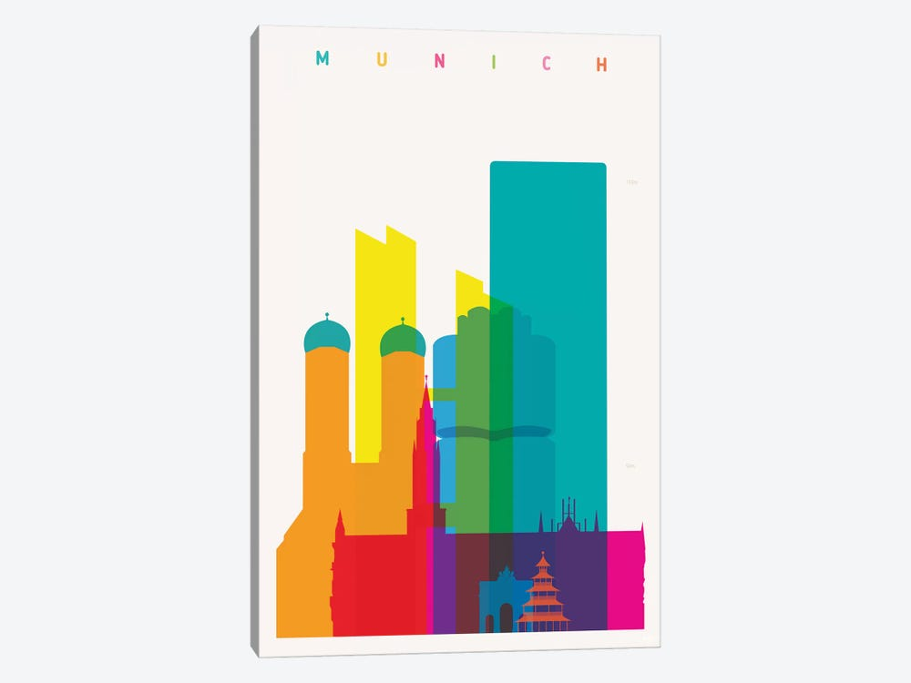Munich by Yoni Alter 1-piece Canvas Art Print