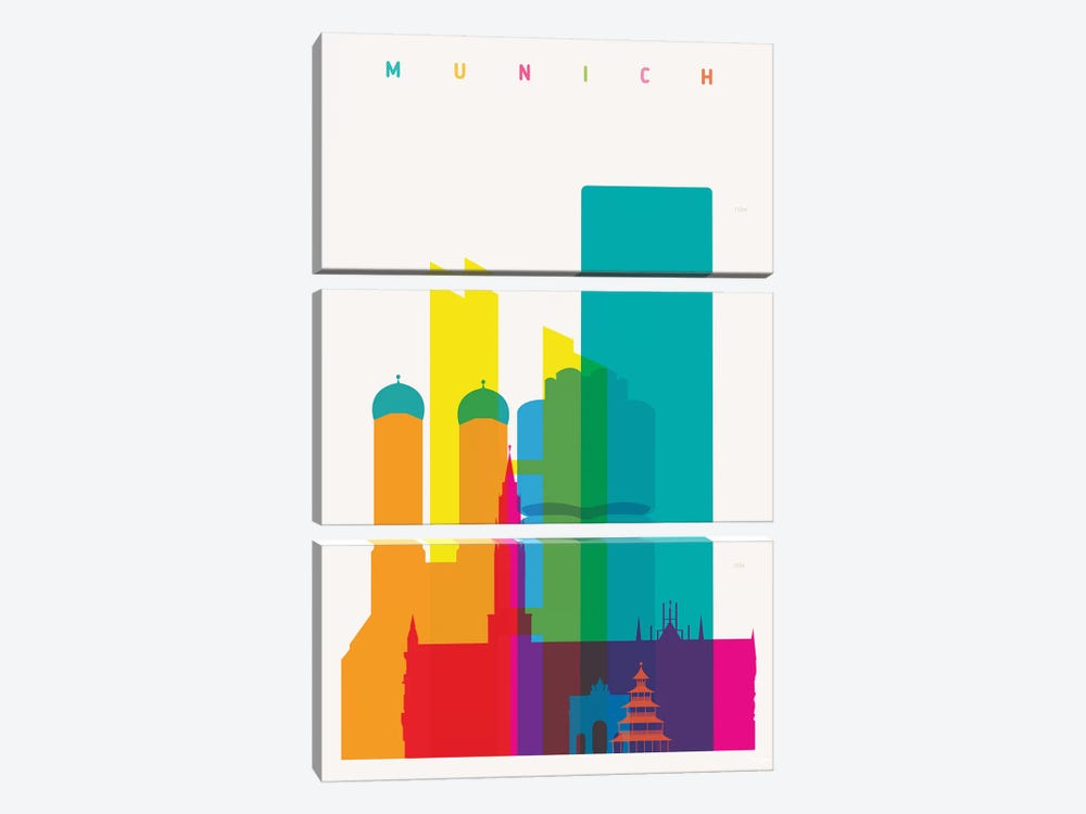 Munich 3-piece Canvas Print