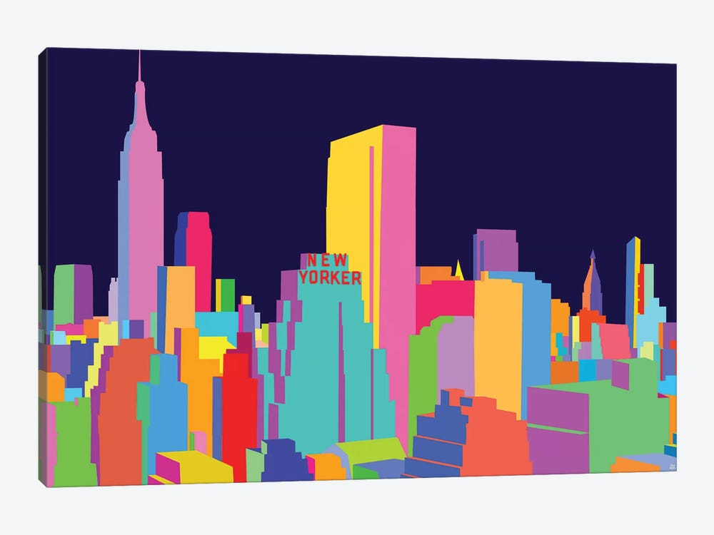 New Yorker And Empire State Building by Yoni Alter 1-piece Canvas Wall Art