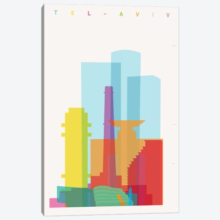 Tel Aviv Canvas Print #YAL120} by Yoni Alter Canvas Art Print
