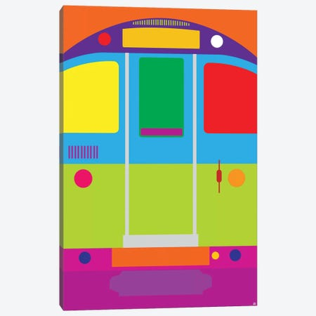 Tube Train Canvas Print #YAL122} by Yoni Alter Art Print
