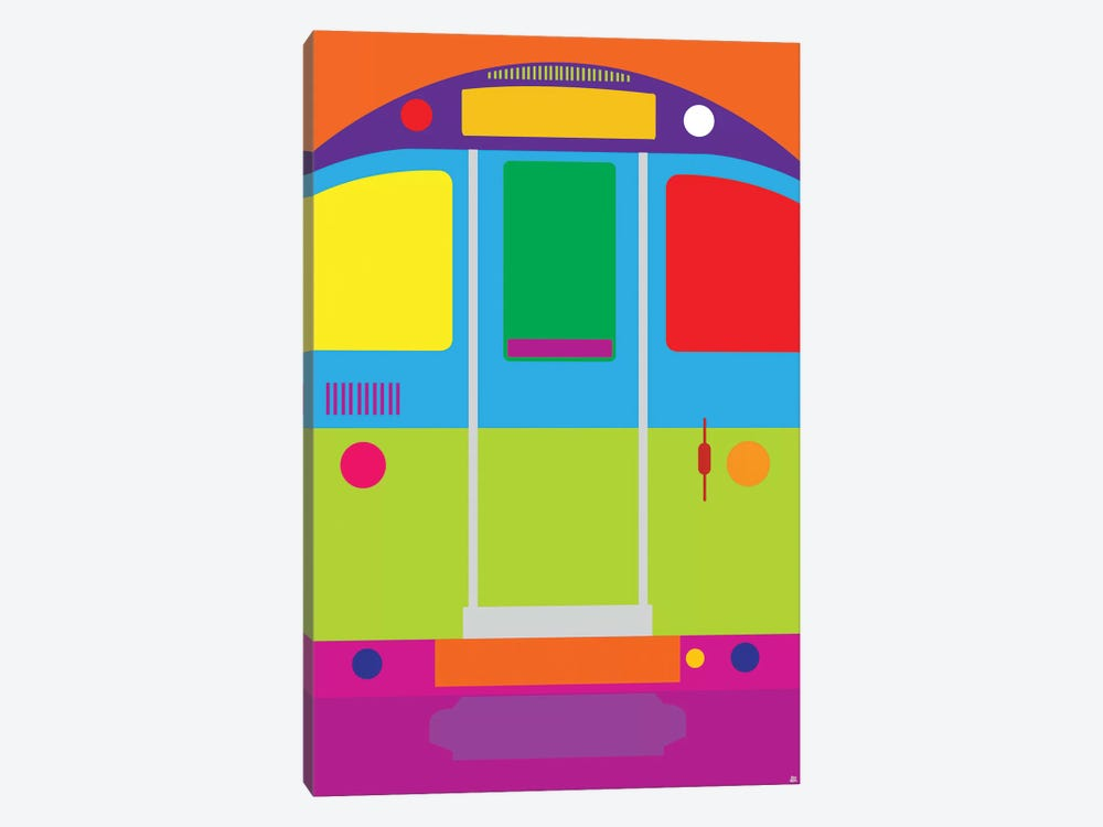 Tube Train by Yoni Alter 1-piece Canvas Print