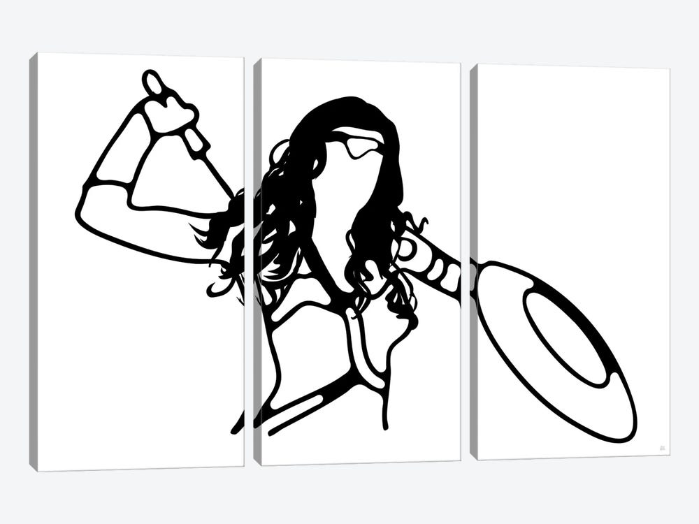 Wonder Woman by Yoni Alter 3-piece Canvas Wall Art
